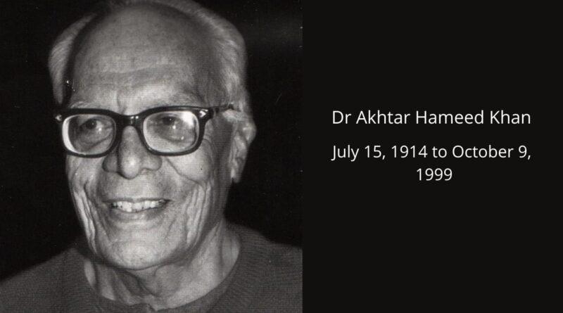 Dr. Akhtar Hameed Khan